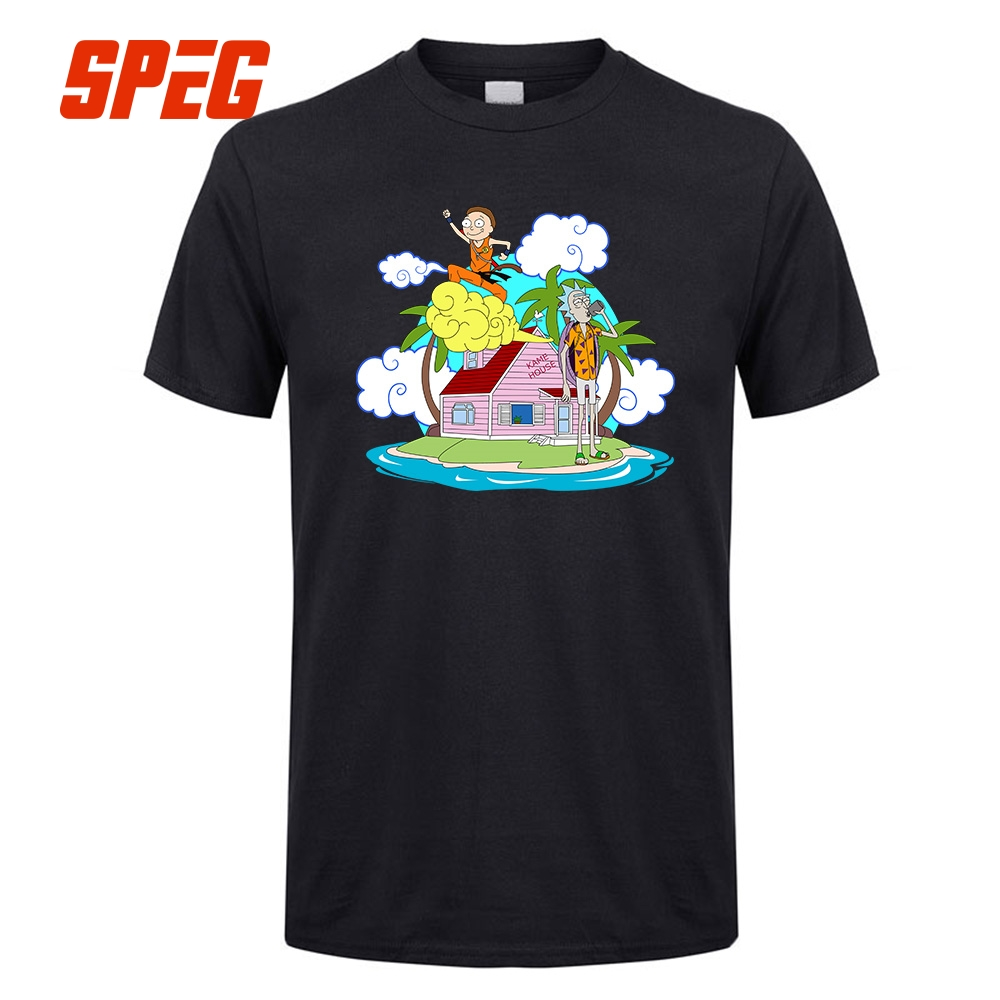 Design t shirt for holiday - Dragon Ball Rick And Morty Creative Design T Shirt Holidays Male Tops 100 Cotton Clothing