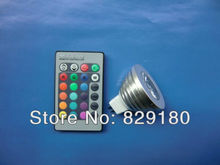 Best selling 100PCS/Lot  RGB 16 Colors led Spotlight 9W  MR16/E27/GU10 AC 110-240V/DC 12V LED Light Bulb +Remote Control