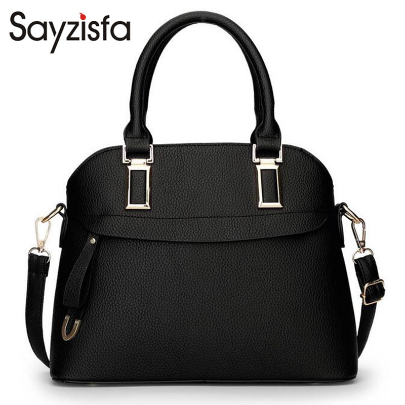 Sayzisfa 2017 New Fashion Designer Women Handbags Female PU Leather Bags Ladies Shoulder Bag Business Zipper Lady Bag Totes T90 sayzisfa 2017 brand new women handbags fashion designer female pu leather bags ladies shoulder bag ladies bags totes bolsa t144