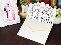 25pcs Set Romantic Wedding Party Invitation Card Wedding Invitation Delicate Carved Pattern Wedding Decoration Supplies