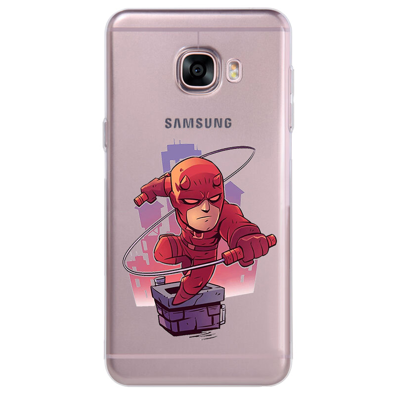ciciber Iron Man Phone Case for Samsung Galaxy Note 9 8 3 4 5 Soft TPU Cover for Galaxy C7 C9 C8 C5 Pro 2017 Coque Marvel DC in Fitted Cases from Cellphones Telecommunications