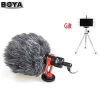 BOYA BY MM1 VideoMicro Compact On Camera Recording Microphone for Canon Nikon Sony DJI Osmo DSLR Smooth Q 4 Feiyu Gimbal VS RODE
