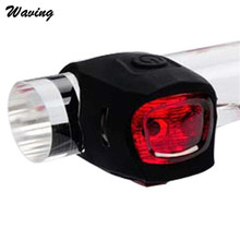 1PC Bike Headlight 2017 Outdoor New Silicone Bicycle Light LED Warning Lights BK Jan 24