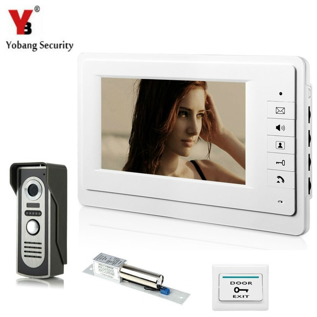 Yobangsecurity 7 Inch Video Door Entry System Home Security Camera