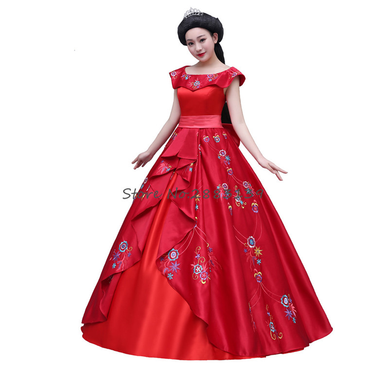 Adult Red  Cosplay Elena of Avalor Elena Princess Elena  Dress Adult Ball Gown Prom Dress