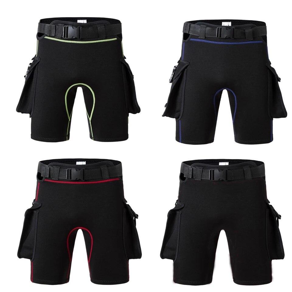 Hommes femmes Submersible poche pantalon Submersible jambe sac sacs Bandage pantalon Submersible pantalon épaississement équipement de plongée Shorts