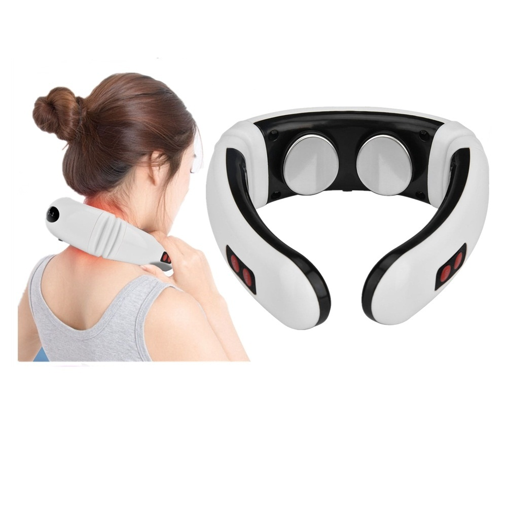 Electric Pulse Neck Massager Cervical Vertebra Impulse Massage Relief Pain Tools Physiotherapeutic Acupuncture Magnetic Therapy