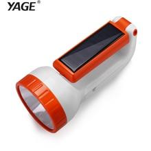 YAGE portable light led flashlight Solar Engergy searchlight spotlight double lamp lantern desk 2-modes