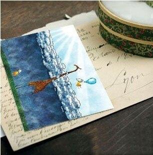 HOT SALE, DIDA-DIDA Russia cute inbetwwening Postcard,Creative Stationary,8pcs/set,wholesale,2 sets/lot,Free Shipping