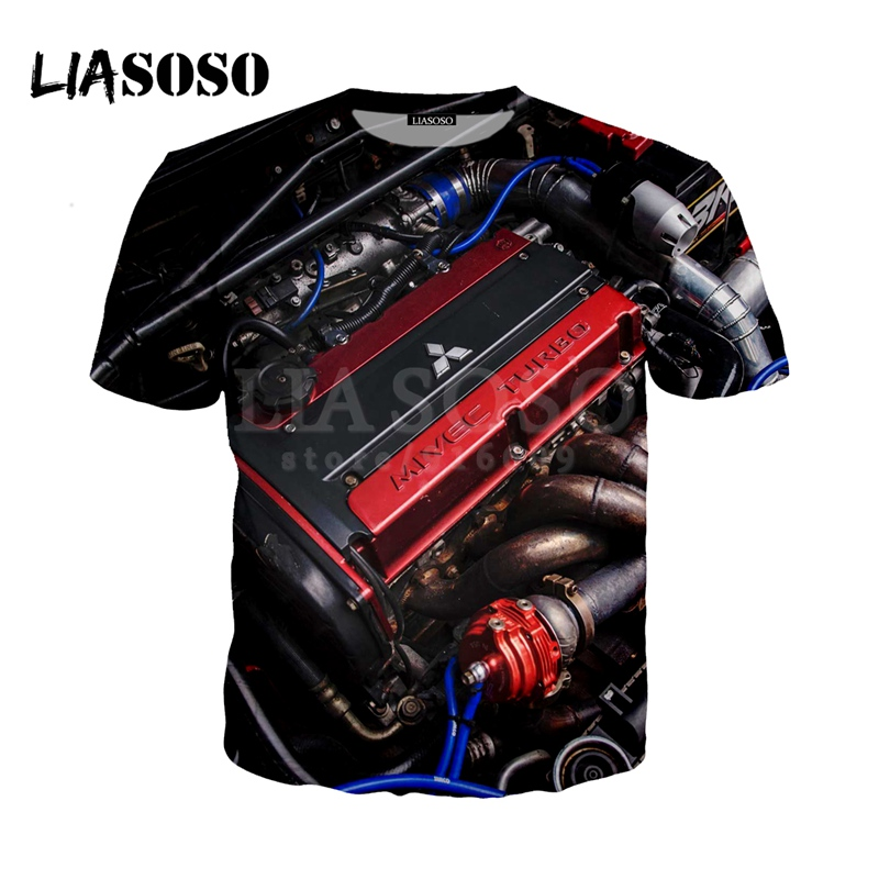 Mitsubishi Car Engine Top 10 4G63 3D Print personality   t     shirt  /Hoodie/Sweatshirt Unisex Funny Hipster Cool Good Quality Tops