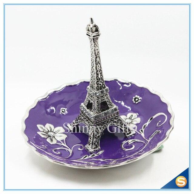 Znic Alloy Eiffel Tower Design Jewelry Display Stand Jewelry