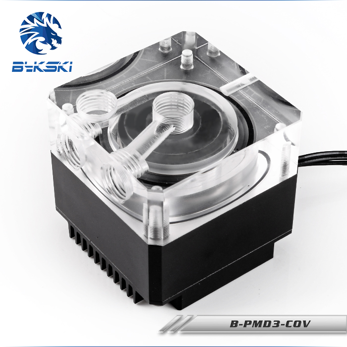Bykski DDC Pump Water Cooling System Maximum Flow Lift 6 Meters 600L/H Compatible DDC Cover 2 Colors Radiator B-PMD3-COV bykski b pump pav water cooling pump with heatsink 300l