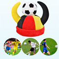 Refueling Cheer Props World Cup Football Horn Cap Festival Velvet Halloween Party Performances Fans Carnival Day Hat Headgear