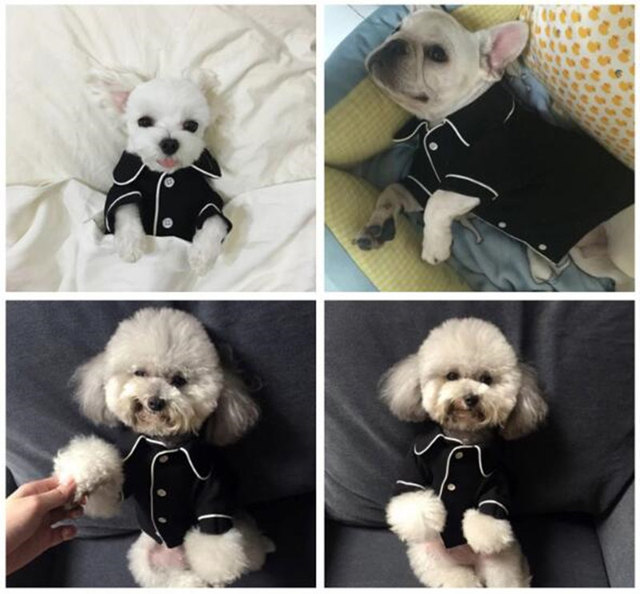 Luxury Clothes for Dog Fashion Dog Pajamas Pet Clothing for Small Medium Dogs Clothes Coat Yorkies Chihuahua Bulldogs Jacket 20D 4