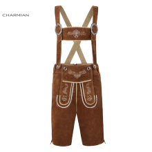 Charmian Men Brown Oktoberfest Costume Adult German Bavarian Men Cosplay Carnival Party Fancy Oktoberfest Costume Clothing