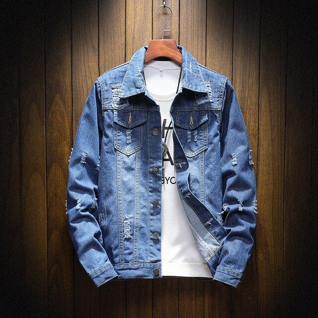 2ad4b8bd977d9 Hommes Mens Vestes Printemps Hop Slim Bleu Pour 5xl Manteau D ...