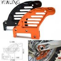 Motorcycle CNC Orange Autobike Rear Brake Disc Guard Potector For KTM 450 SX 2003 2016 KTM