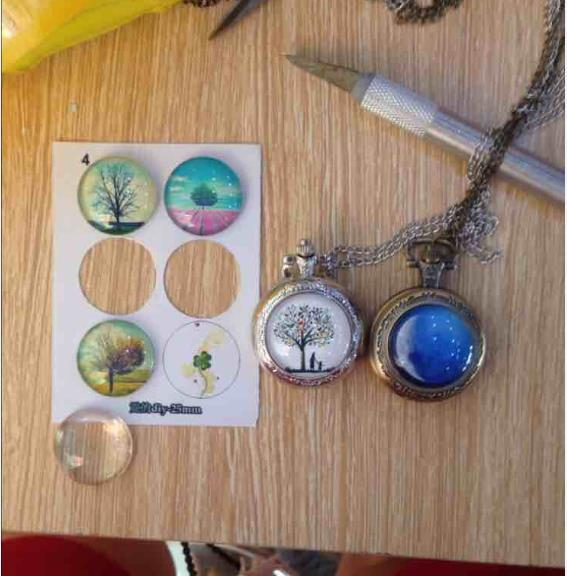 DIY Pocket Watch Custom Photo DIY Free Shipping  Personalized Gift Watch With Picture Holder
