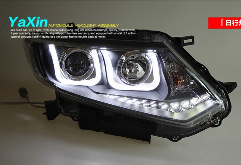 High Quality Dual U Q5 Lens Led Headlight For Nissan X