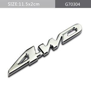 Для Toyota Highlander V6 4WD Camry Corolla Crown Prado Land Cruiser Tundra автомобильные аксессуары задний стикер эмблема металлический на багажник наклейка