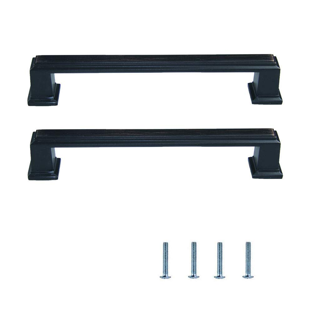 Oil Rubbed Bronze Rope Kitchen Cabinet Cupboard Drawer: LWZH Cabinet Hardware Handle Pull 2 Pack Oil Rubbed Bronze