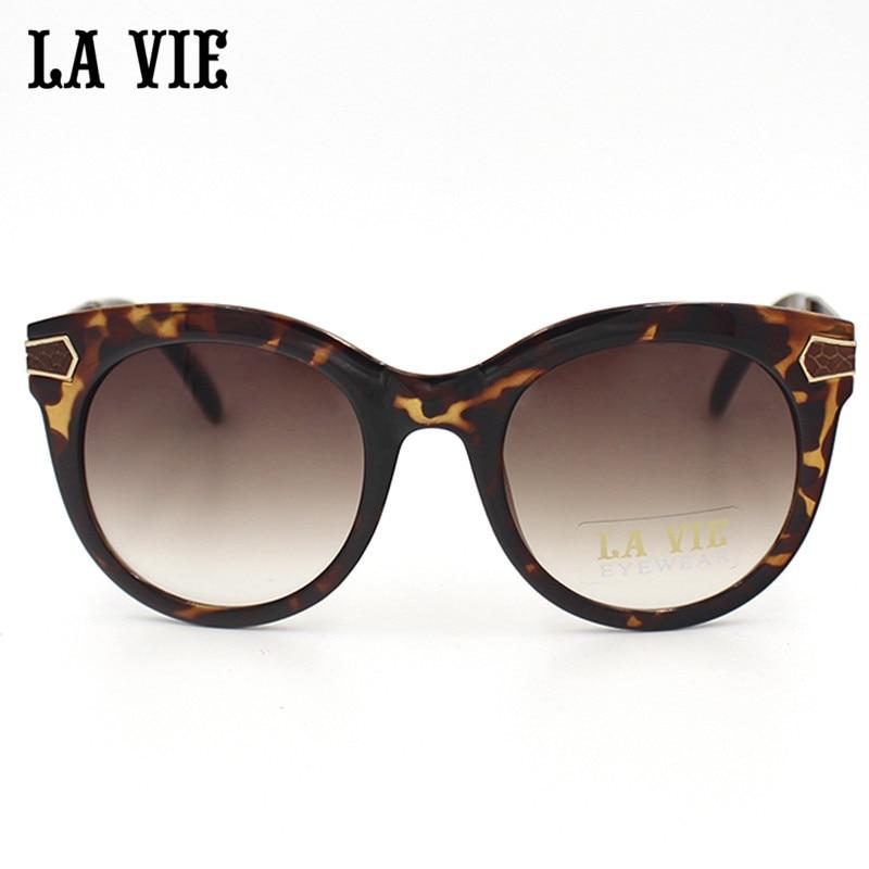 LA VIE Marca de Moda Óculos De Sol Das Mulheres Gato Olho Óculos De Sol  Famosos Óculos de Grife óculos de Sol Espelho Revestimento de cor de  madeira  9618 fe26ac8706