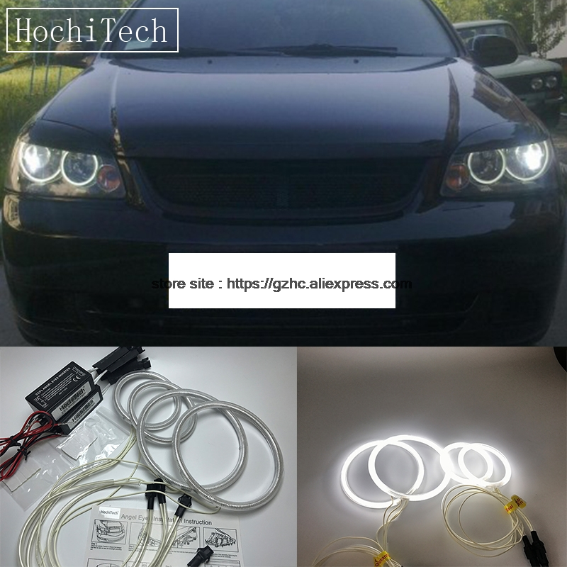 HochiTech For Chevrolet Lacetti Optra Nubira 2002-08 Ultra Bright Day Light CCFL Angel Eyes Demon Eyes Kit Warm White Halo Ring hochitech white 6000k ccfl headlight halo angel demon eyes kit angel eyes light for vw volkswagen golf 5 mk5 2003 2009