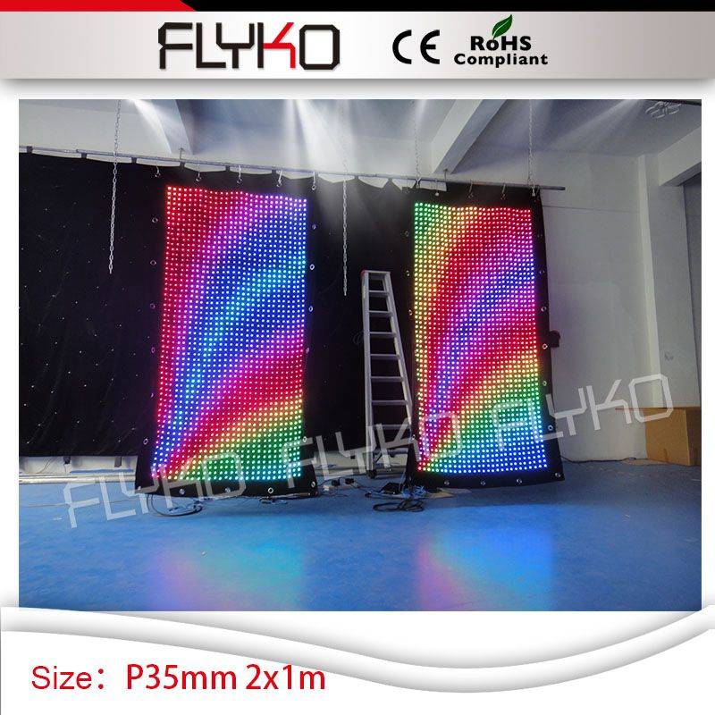 2m*1m party booth nightclub bar shop led backdrop decoration high quality P35mm video curtain