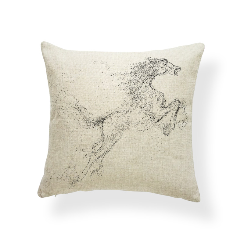 Horse Unicorn Cushions Animal Diamond Flowers Cover Pillows Zaka Beach Baby Birth Gifts Throw Pillow Cases Square Linen Romantic