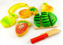 New wooden toy Wooden toys fruit baby free shipping