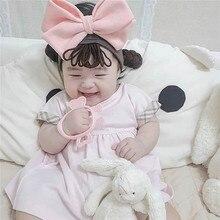 Baby Headwear Pigtail Wig Hairband-Accessories Newborn Infant Princess Kids Fashion