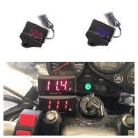 ZS MOTOS koсветодио дный so светодиодный цифровой дисплей мотоцикл мини Напряжение вольтметр Вольт тестер панель для DC 12 В в мотоциклы транспортных средств