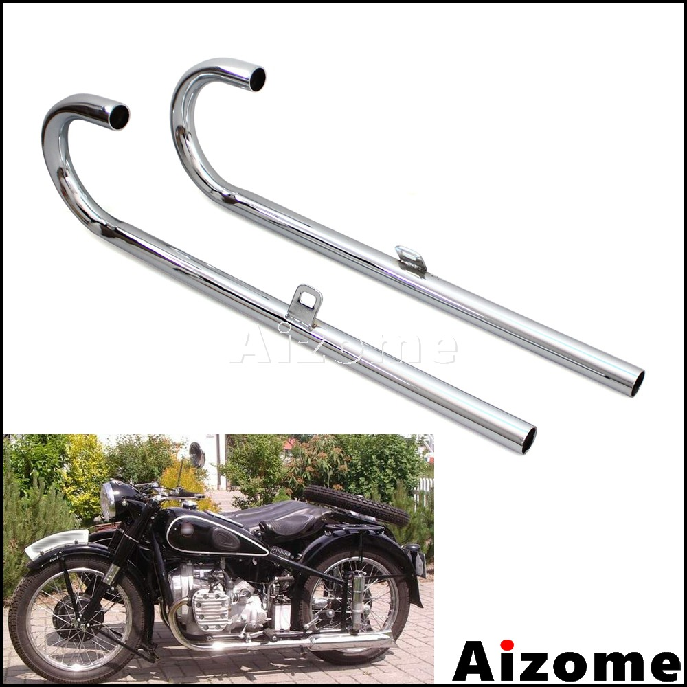 1 Pair Steel Exhaust Pipes 32P For BMW K750 M1 M72 R71 R12 Dnepr MT12 URAL