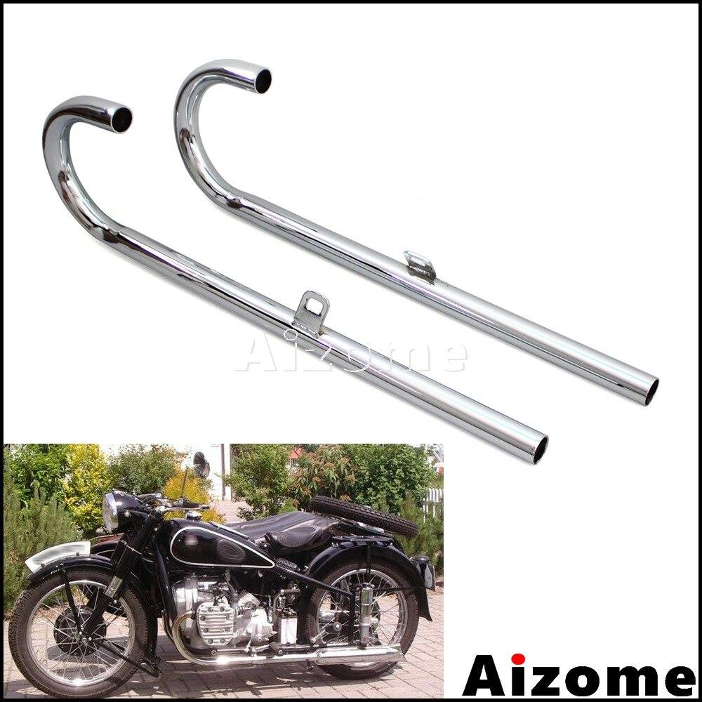 1 paire de tuyaux d'échappement en acier 32 P pour BMW K750 M1 M72 R71 R12 Dnepr MT12 URAL