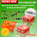 The newest version sigma box with 9 cables with Pack 1 activation for t MTK-based Motorola, Alcatel, Huawei, ZTE and Lenovo