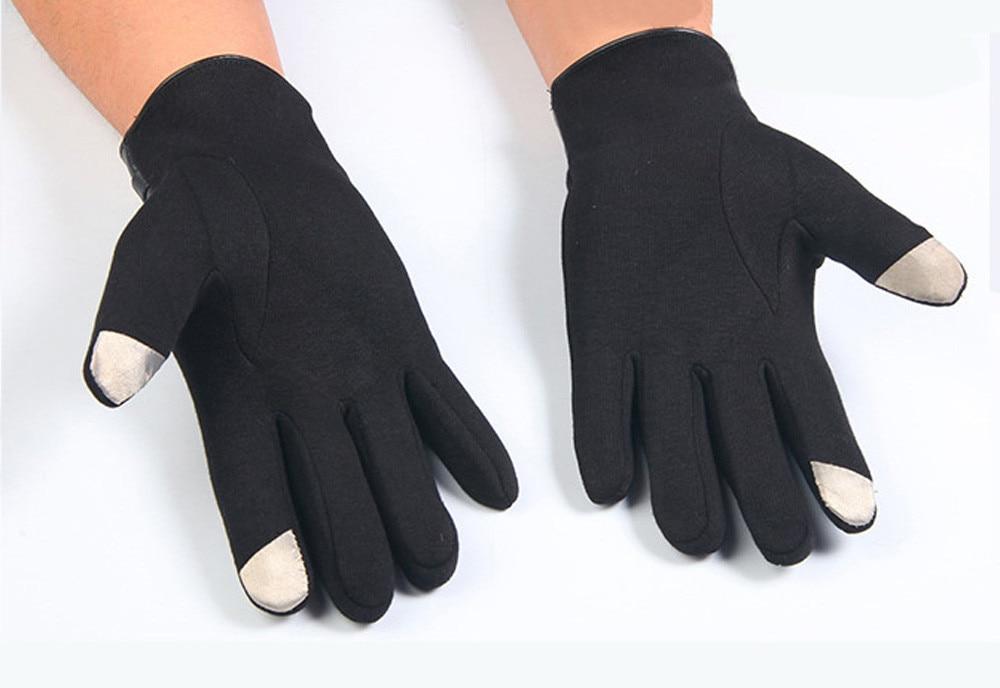 2017 Hot Sale Mens Winter Warm Full Finger Gloves Outdoor Gloves Smartphone Touch Screen Wrist Gloves Mitten Men Luvas 3 Colors
