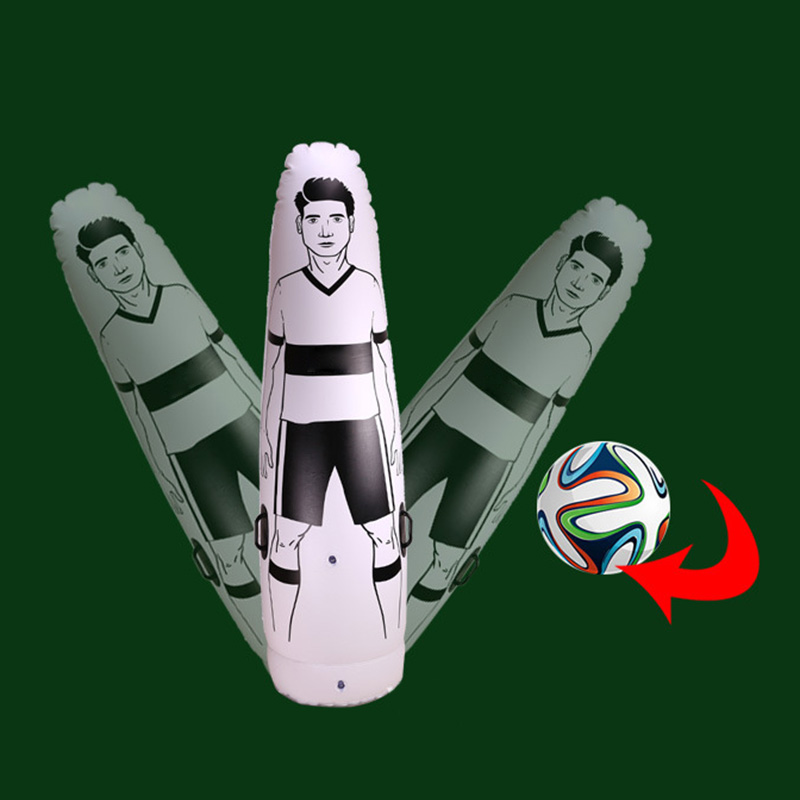 1.75m Adult Children Inflatable Football Training Goal Keeper Tumbler Air Soccer Train Dummy &T8