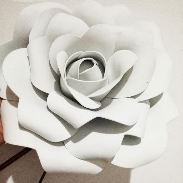 Online shop 10cm 3d foam flower wedding decoration large artificial 10cm 3d foam flower wedding decoration large artificial flowers pink white red handmade romantic party paper flower foam roses mightylinksfo