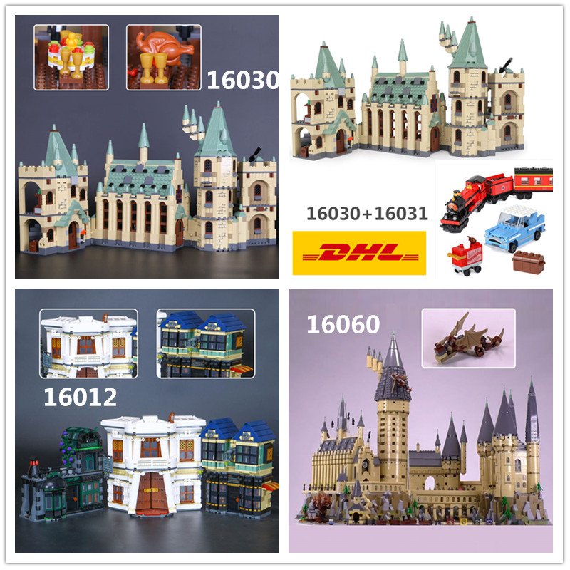 DHL H & HXY 16030 16012 16031 16060 Harry Magie Potter Hogwarts Castle Schule LEPIN Modell Baustein 4841 4842 10217 71043