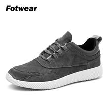 купить Fotwear Men Leather Sneakers Casual Lace Up shoes Effortlessly stylish comfort wearing Lightweight impact absorption Versatility по цене 1591.81 рублей