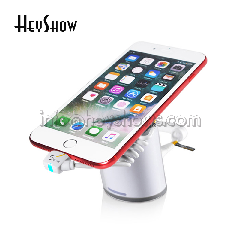 Mobile Phone Security Display Stand Anti Theft Holder For Tablet Alarm System IPhone Burglar Alarm Ipad Display Mount For Retail 10xmobile cell phone security display stand tablet pc burglar alarm holder with secure cable for iphone ipad samsung andriod