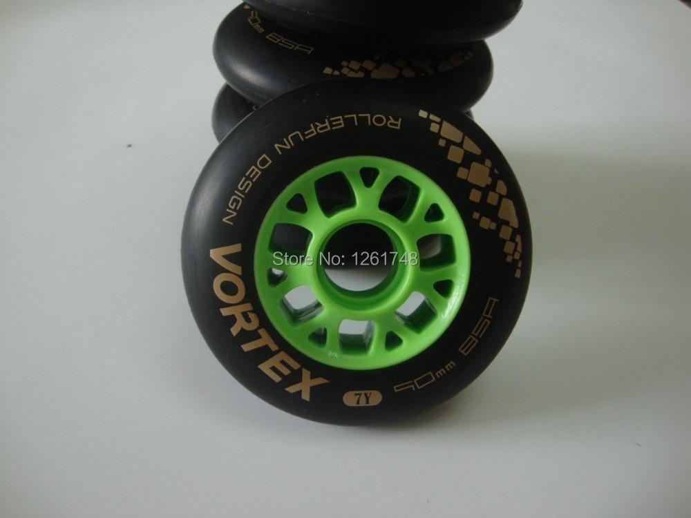 Prix pour 8 PCS! livraison gratuite! professionnel usine alimentation haute-élastique polyuréthane (PU) 7Y skate roues/vitesse de patinage roues/90mm 85a