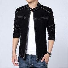 Новый M-6XL Для мужчин Кожаная куртка скраб искусственная кожа тонкая замшевая куртка Для мужчин кожаные высокое качество большой Размеры мужской Куртки пальто