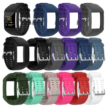 Soft Silicone Sports Bracelet Wrist Band Strap for Polar M600 GPS Smart Sport Watch Classic Stainless Steel Buckle 11 Colors фото