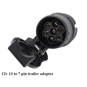 Image 3 - AOHEWEI 12V 13 Pin plug to 7 Pin socket  trailer adapter plug  trailer truck connector  plug socket 13 to 7 pin towing adapter