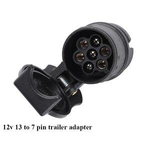 Image 3 - Aohewei 12 v 13 핀 플러그 7 핀 소켓 트레일러 어댑터 플러그 트레일러 트럭 커넥터 플러그 소켓 13 7 핀 견인 어댑터