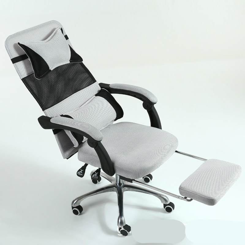 Light Ergonomics Computer Chair With Footrest Household Simple Swivel Chair Lifted And Rotation Multifunction Mesh Cloth Chair
