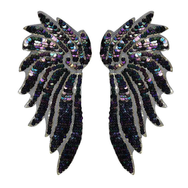 Direct Embroidery Sequins Wing Cloth Patches Fashion Clothes Patches Clothing Accessories Clothing Patches