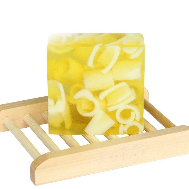 Handmade Soap Skin Cleansing Wash Hair Acne Treatment Remove Whelk Shrink Pore Face Care 100g 100% Natural Lemon Oil
