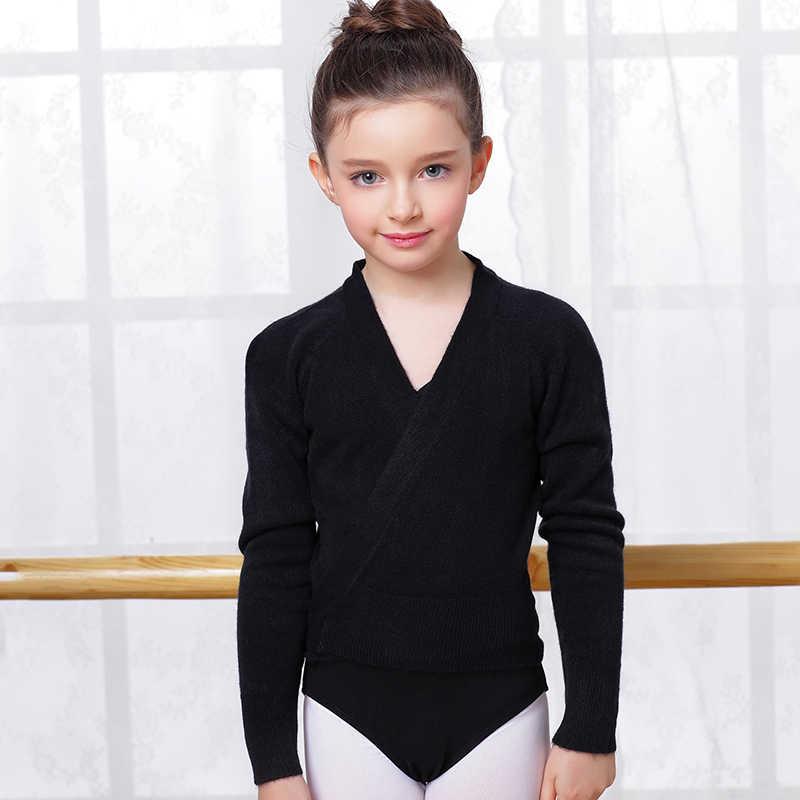 여자 댄스 의류 발레 목도리 스웨터 코트 두꺼운 긴 소매 옷과 어린이 댄스 가을과 겨울 의류 B-3057